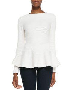 Peplum Sweater - $117 - Photo: cusp.com